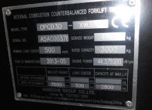 CPCD30-XW33F 3000 кг.